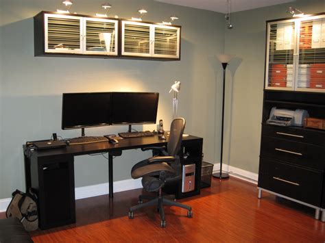 Black Wood Office Desk Beautiful Yet Modern Ikea Home Office Ideas Enthralling Grey Ikea Home Office Design With