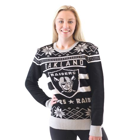 light up raiders sweater oakland raiders sweaters gifts