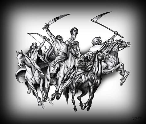 quot four horseman of the apocalypse quot by jessica bone redbubble