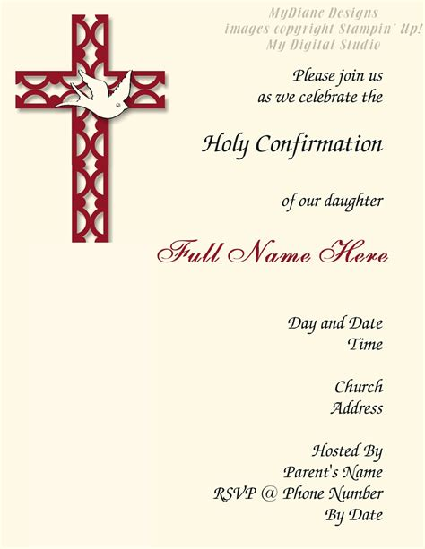 free confirmation invitation templates mydiane designs confirmation invitation