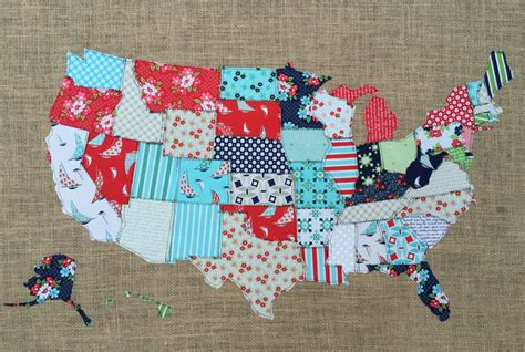 us map fabric fabric map united states scrap map moda by thelittlegreenbean