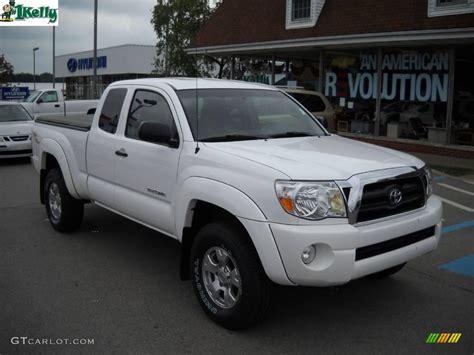 Toyota Tacoma 2005 4x4 2005 White Toyota Tacoma V6 Trd Access Cab 4x4