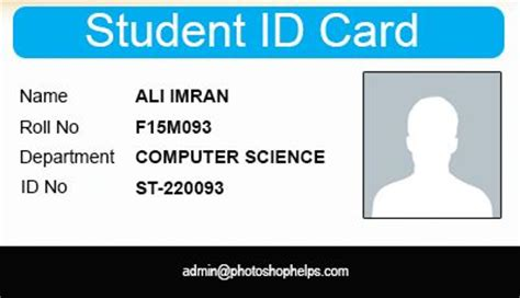 temple student card template 15 best id card design images on business