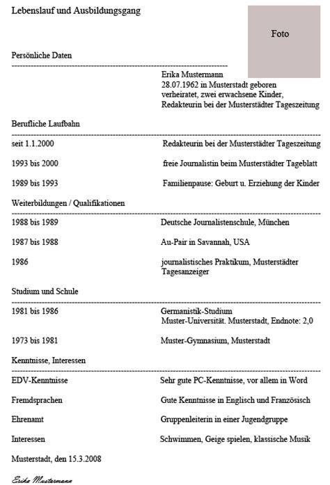 Lebenslauf Verfassen Beispiel Lebenslauf Beispiel Jobwiki