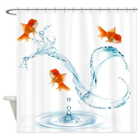 Splashing Shower Curtain by Splashing Goldfish Shower Curtain By Getyergoat