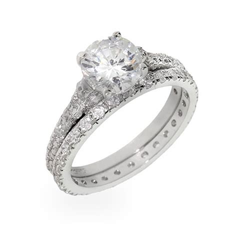 Silver Wedding Ring Set by Thin Sterling Silver Wedding Ring Set