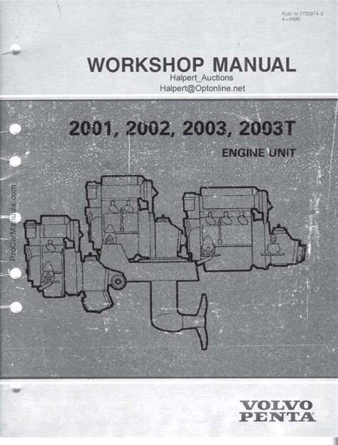 volvo penta     engine service manual