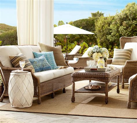 who makes pottery barn couches saybrook outdoor furniture collection