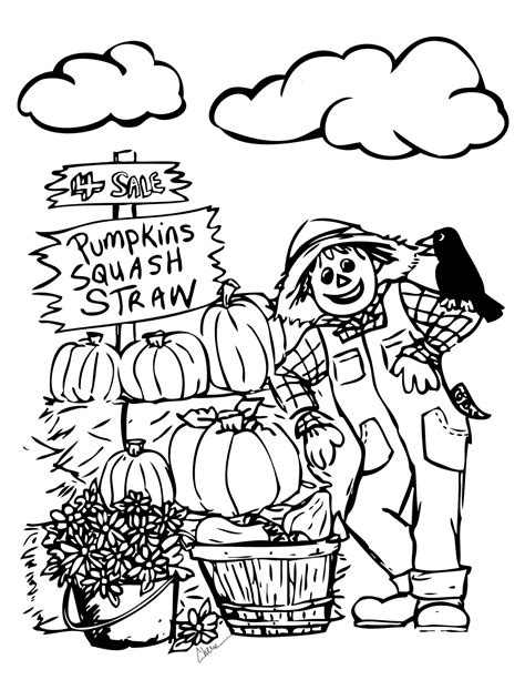Fall Coloring Sheets Printable Activity Shelter Free Autumn Coloring Pages