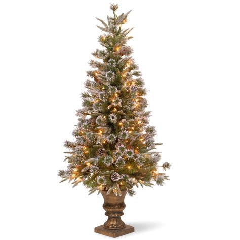 4 ft cone berry snow tip tree crab pot trees 4 ft indoor outdoor pre lit incandescent artificial tree with green