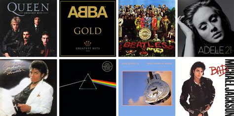 Bestselling Albums Of All Time Top 10 Selling Albums In Uk History Creation