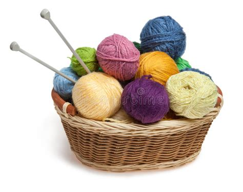 what is m in knitting knitting yarn balls and needles in basket royalty free