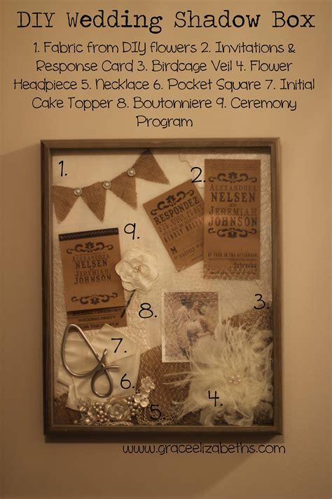 Wedding Shadow Box Ideas by Diy Wedding Shadow Box Grace Elizabeth S
