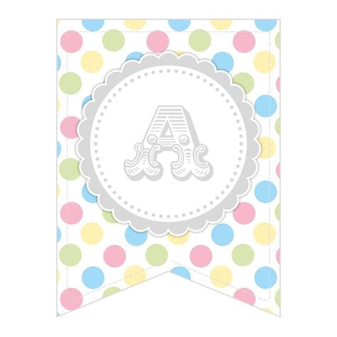 free printable alphabet letters bunting free printable whole alphabet pastel party polka dot