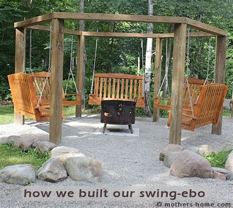 hexagon fire pit swing cing mother s home