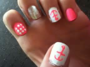 cute and easy nail designs anchor pink cute nails
