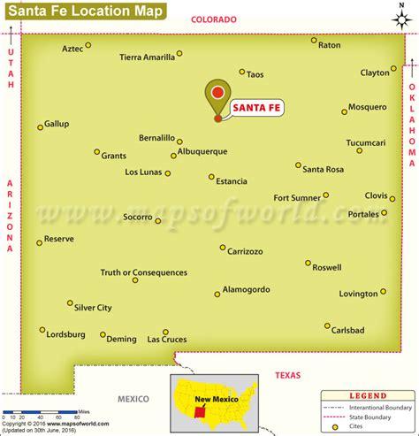 santa usa map santa fe location usa santa get free image about wiring