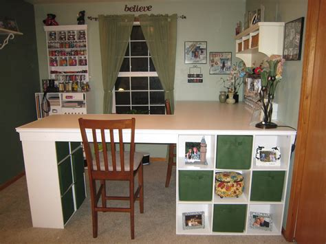 craft desk with storage do it yourself white craft desk how to build a custom