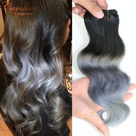 platinum gray ombre hairstyles new arrival 7a human virgin ombre brazilian hair body wave