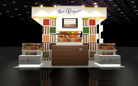 design your booth 3d design booth food specialize 3d model max 3ds