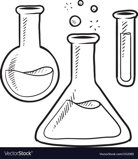 doodle login science doodle science lab beakers royalty free vector image