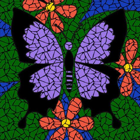 purple butterfly mosaic kit brett cbell mosaics