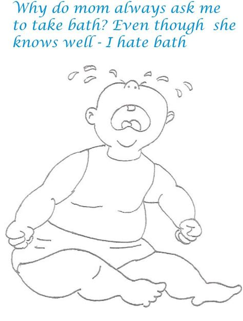 naughty babies coloring printable pages for kids 2