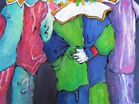 acrylic painting clothes clown clothes by myra