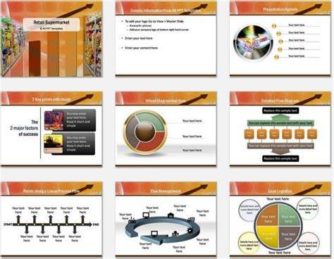 Powerpoint Retail Supermarket Template Retail Ppt Templates Free