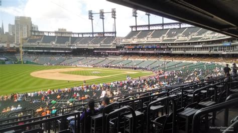 comerica park section 139 comerica park terrace 139 detroit tigers rateyourseats com