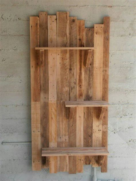 pallet wall and shelves pallet projects