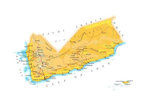 map of yemen cities large elevation map of yemen with roads cities and