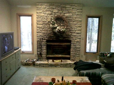 stone fireplace wall interior faux stone wall joy studio design gallery