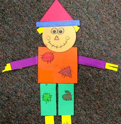 scarecrow pattern for kindergarten geometry scarecrows reminds me of mat man