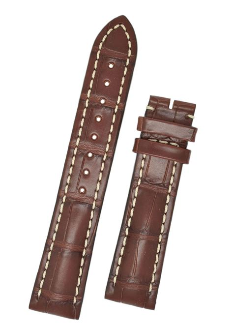 leather straps hirsch capitano 22mm matt brown alligator leather