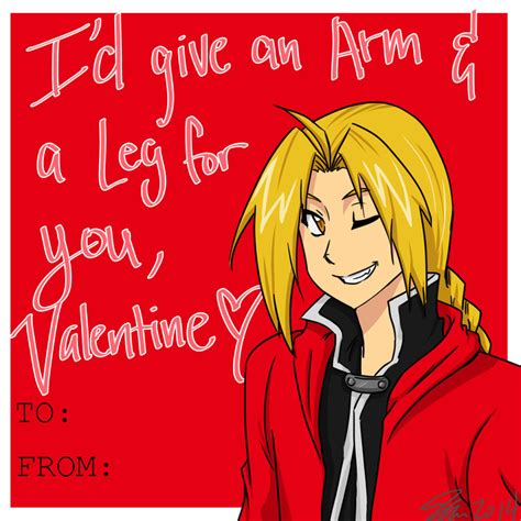 anime valentines card edward elric valentines card by mess anime artist on