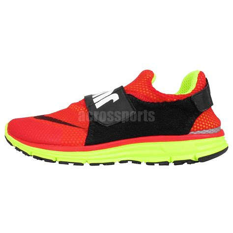 nike velcro shoes nike lunarfly 306 qs black volt just do it velcro mens