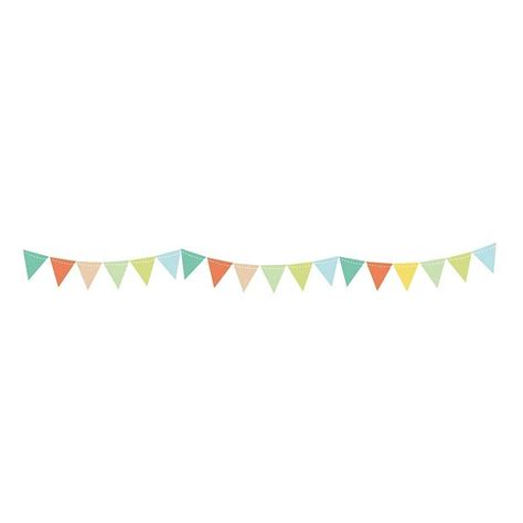 bunting wall stickers by parkins interiors