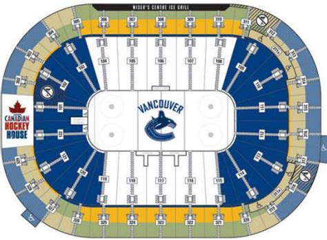 rogers arena floor seating plan rogers arena floor plan gaming canucks community
