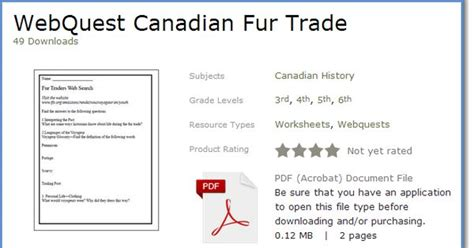 fur trade worksheets free webquest for the canadian fur trade 2 pages grades 4 6 junior social studies totally
