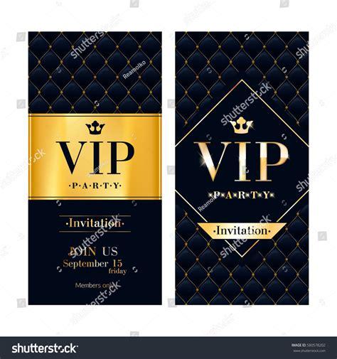 vip card design template vip premium invitation card poster stock vector
