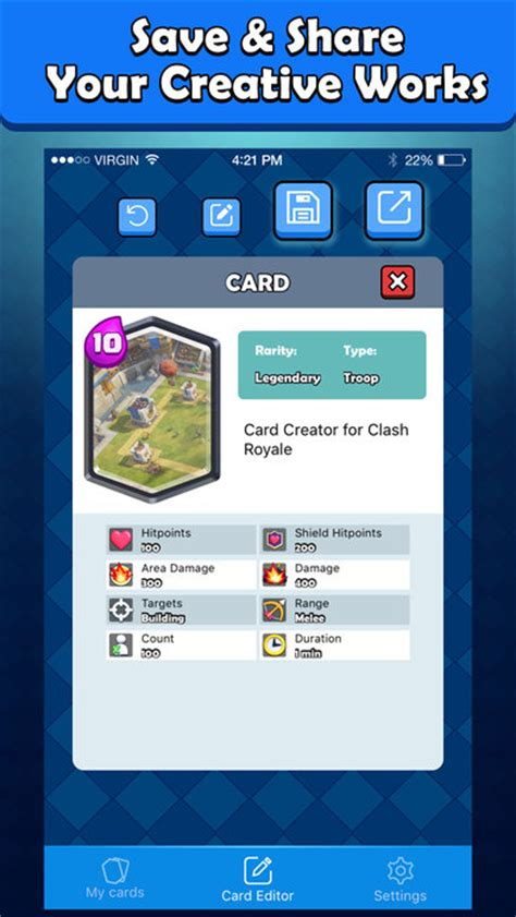 card creator card maker for clash royale card creator on the app store