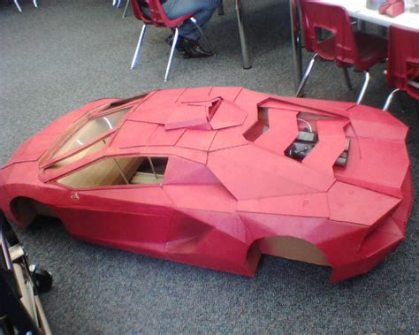 How To Make A Paper Lamborghini - 1 2 scale cardboard lamborghini r c tech forums