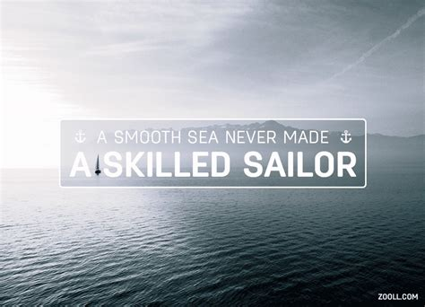 Boat Wall Stickers quote of the week a smooth sea never made a skilled sailor