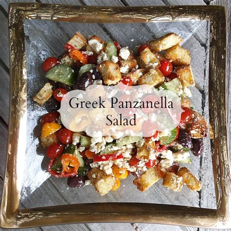 ina garten greek salad greek panzanella salad creatively delish