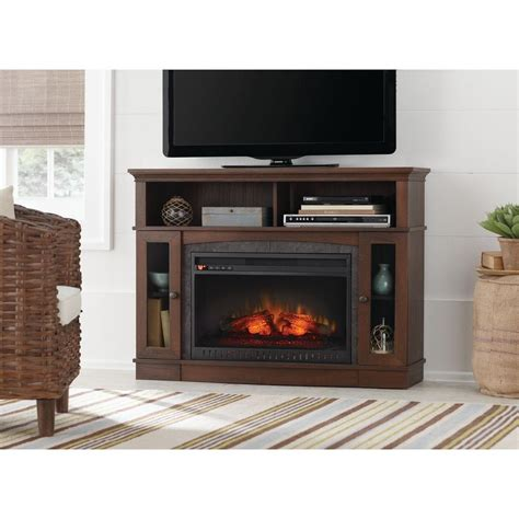 Brown Electric Fireplace by Home Decorators Collection Grafton 46 In Media Console