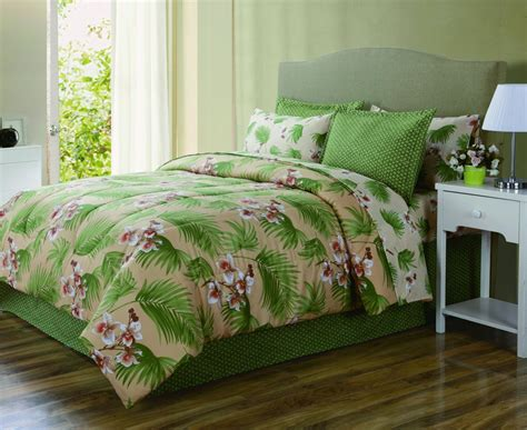 Tropical Bedding by Essential Home Complete Bed Set Tropical Home Bed