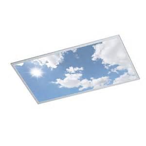 dalle led ciel bleu pour puit de lumi 232 re