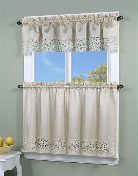 sears outlet curtains simply window brighton cutwork kitchen curtain valance