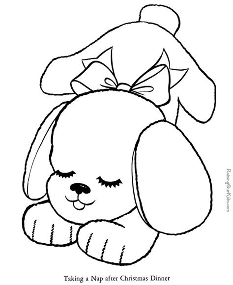 puppy printable coloring pages